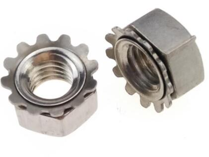 Galvanized Carbon Steel Heavy Hex Nuts K Lock Nut Ni Plated ASME B18.6.3