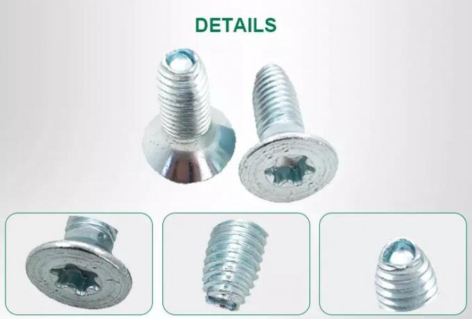 Steel Material Triangular Thread Screw Machine Thread Customized Design