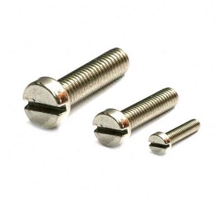A2 A4 DIN85 Slot Pan Head Socket Screw  Surface Finishing 6h Tolerance ISO10664
