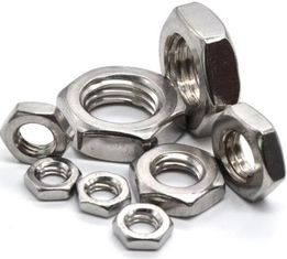 China DIN439 Hex Thin Nut Type B Pan Head Screw Zinc Plate Surface 6h Tolerance supplier