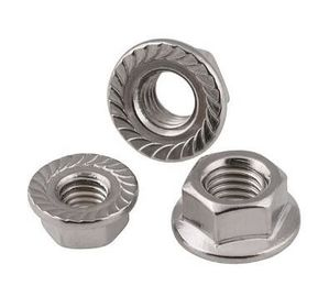 China M12x25 DIN6923 Heavy Hex Nuts Hex Serrated Flange Nut Stainless Steel Bolt Pine supplier