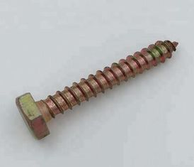 China Carbon Steel Self Tapping Screws Hex Head Wood Screw Type H Cross Recess DIN571 supplier