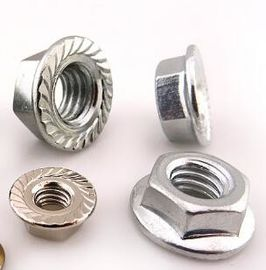 China Galvanized Yellow Zinc Heavy Hex Nuts Hexagon Nuts With Flange Kep Nut supplier