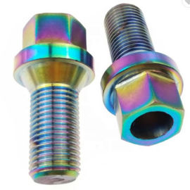 China M14 Oxided Titanium Hex Head Bolt For Auto Hex Flange Head Fastener Mild Steel Material supplier