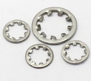 China M4x12 Size Stainless Steel Internal Tooth Lock Washer Zinc Plate Surface DIN6797J distributor