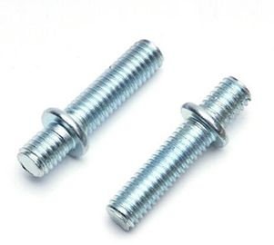 China M14 Size Steel Hex Head Bolt Double Threaded Bolt With Round Washer Attached distributor