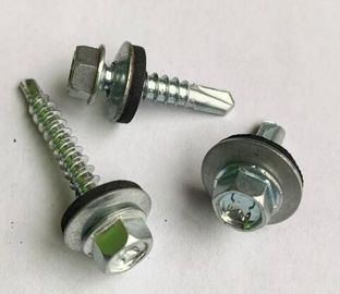 China Hex Head Self Drilling Concrete Screws With Washer DIN7504 ASME B18.6.3 distributor